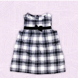 Just one you black/white plaid dress, 9mos
